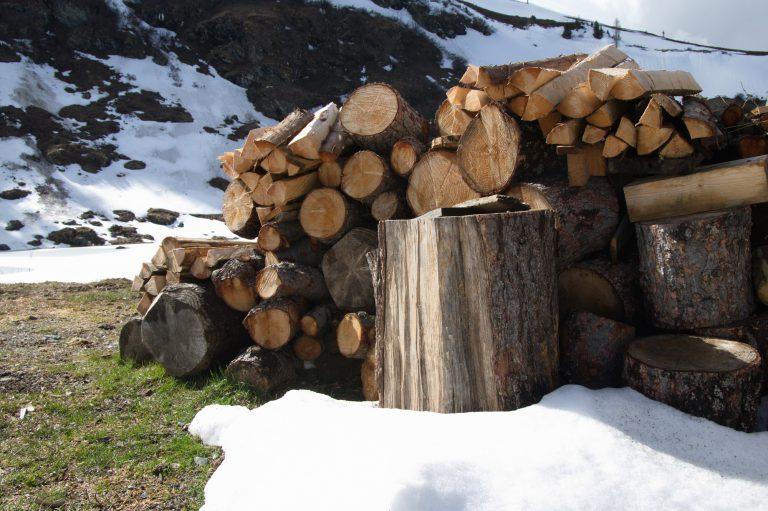 Falkert-Huette Holzstapel