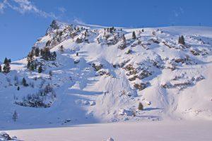 Falkertspitz und Falkertsee im Winter